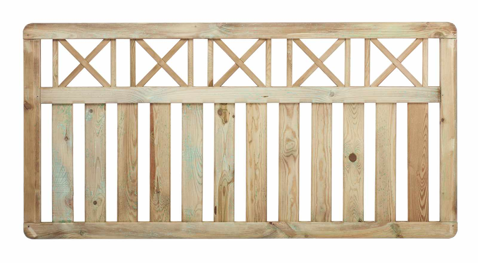Cross Top Fence Panel Paint Options Fsc Timber The