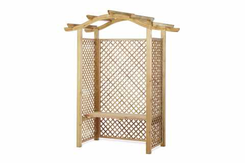 wooden seating arbour 71