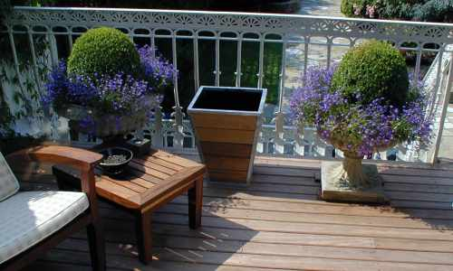 Galvanised framed planter