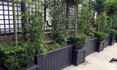 Painted Slate traditional planters