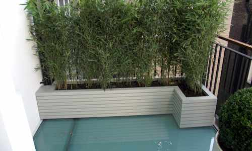 Slatted L Shape Planter