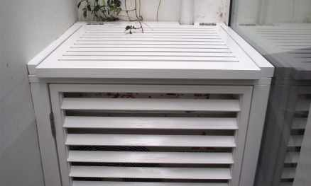 Aircon cover in white