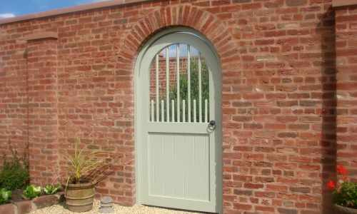 Bespoke gate with decorative spindles