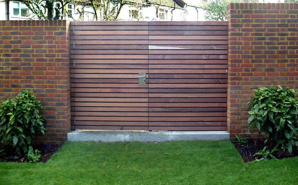 Bespoke Contemporary Wooden Garden Gates Essex UK The Garden