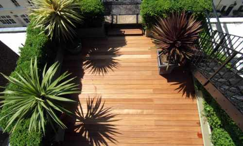 Decking on a rooftop