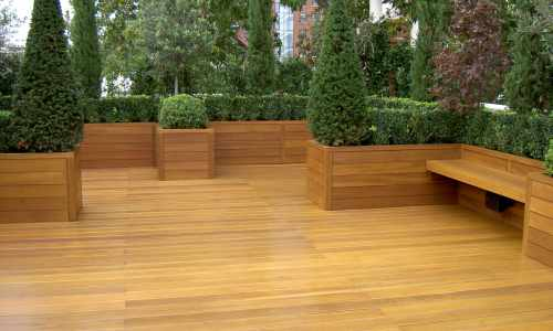 Decking with matching planters