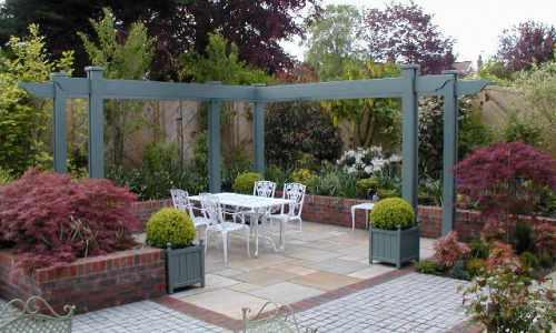 Bespoke painted pergola - Garden Pergolas & Gazebos The Garden Trellis Company