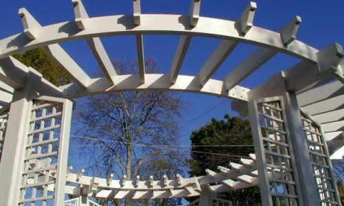 Circular Pergola garden pergolas gazebos the garden trellis company