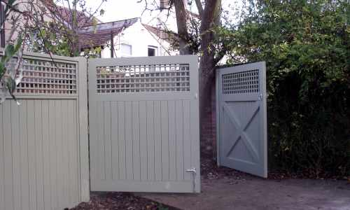 Painted solid & trellis gates