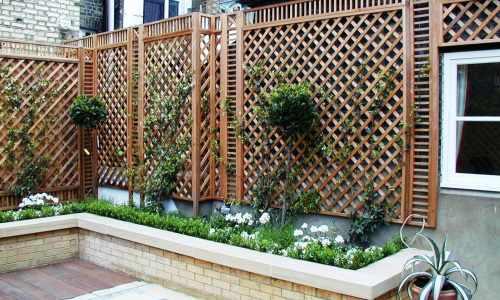 Natural Bespoke Trellis Panels Essex Uk The Garden