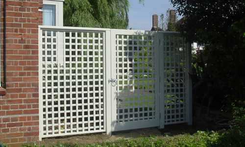 Painted Trellis Panels