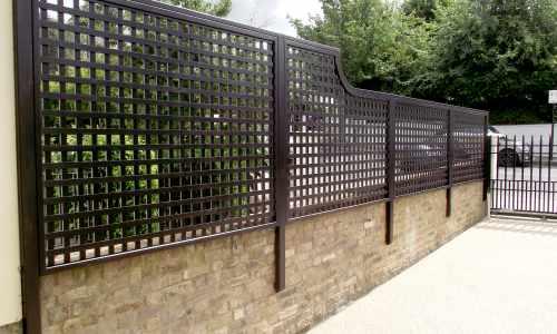 Painted Classic Bespoke Trellis Panels Wooden Fence