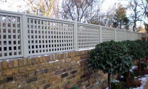 Painted trellis works