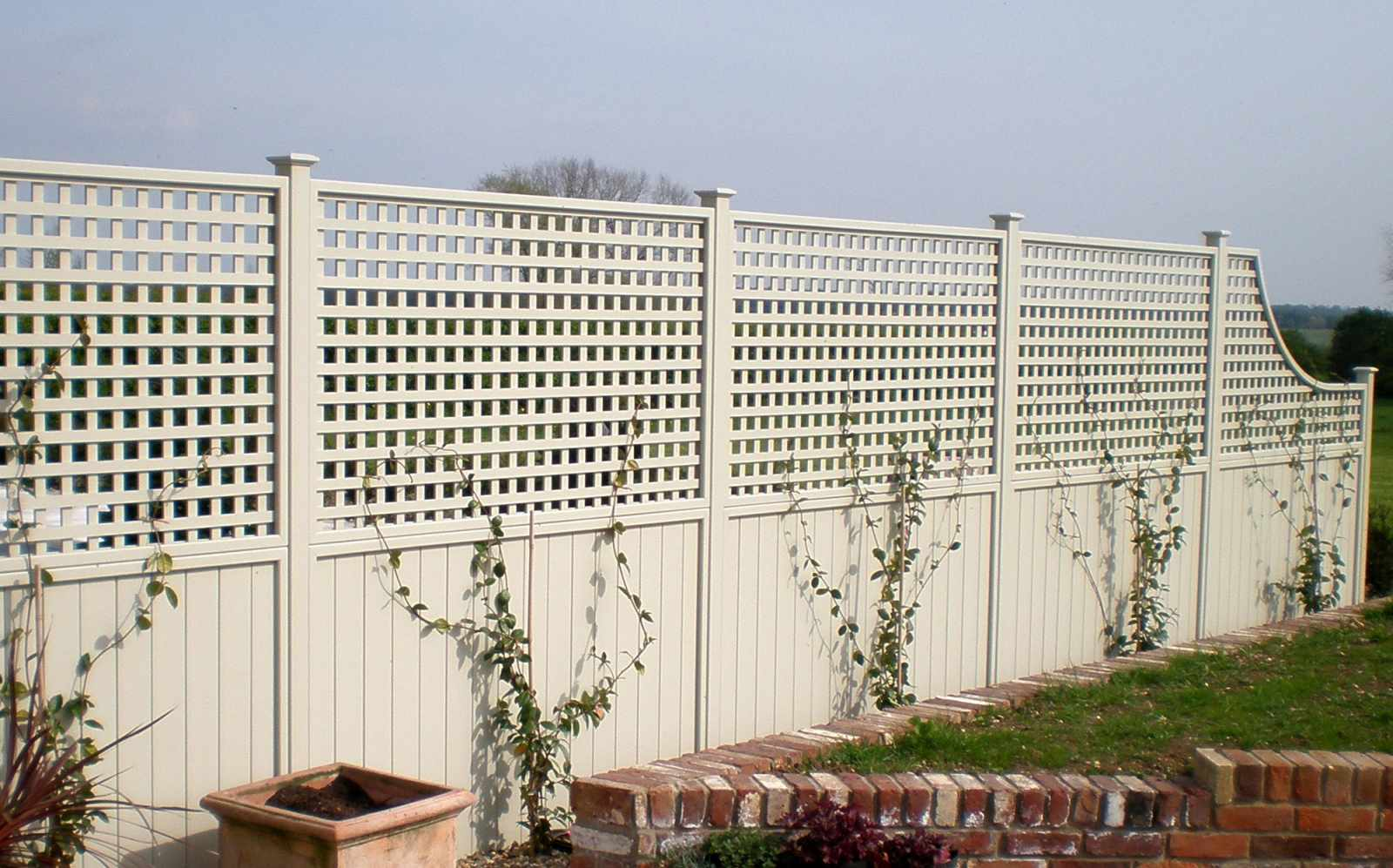 Painted Classic Bespoke Trellis Panels Wooden Fence