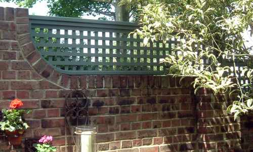 Painted trellis on a wall