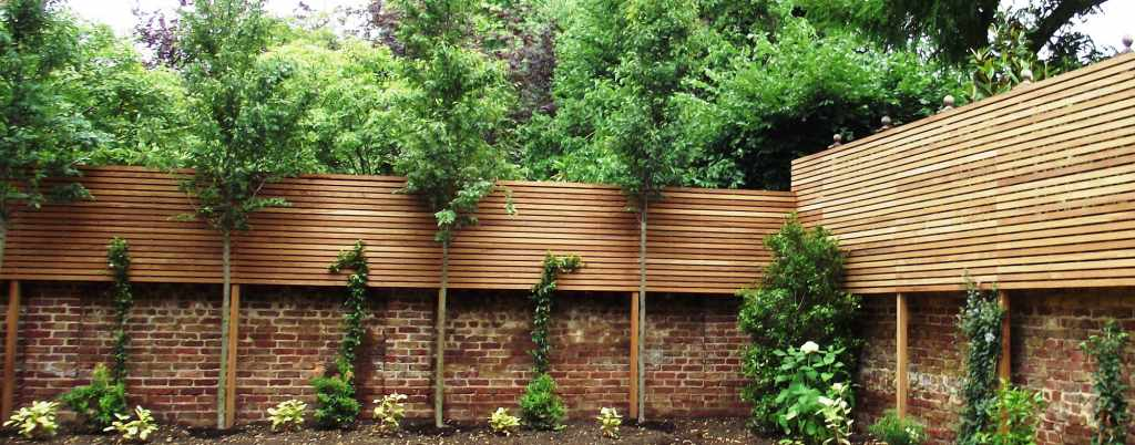 Contemporary Natural Slatted Panels Slatted Fence Panels