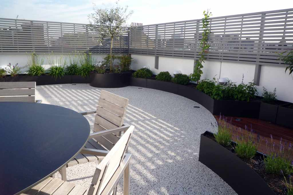 Contemporary Painted Slatted Panels The Garden Trellis