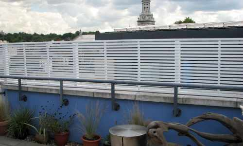 Rooftop slatted panels