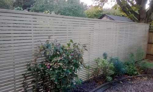 Softwood slatted panels with top capping