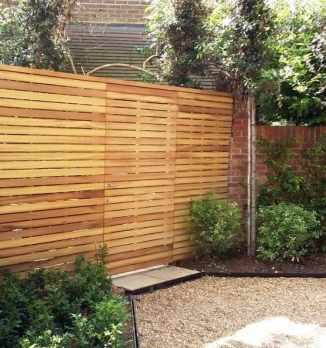 Contemporary Slatted Fence Panels Essex Uk The Garden