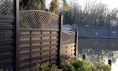 Solid Panels with an Arched Top Trellis