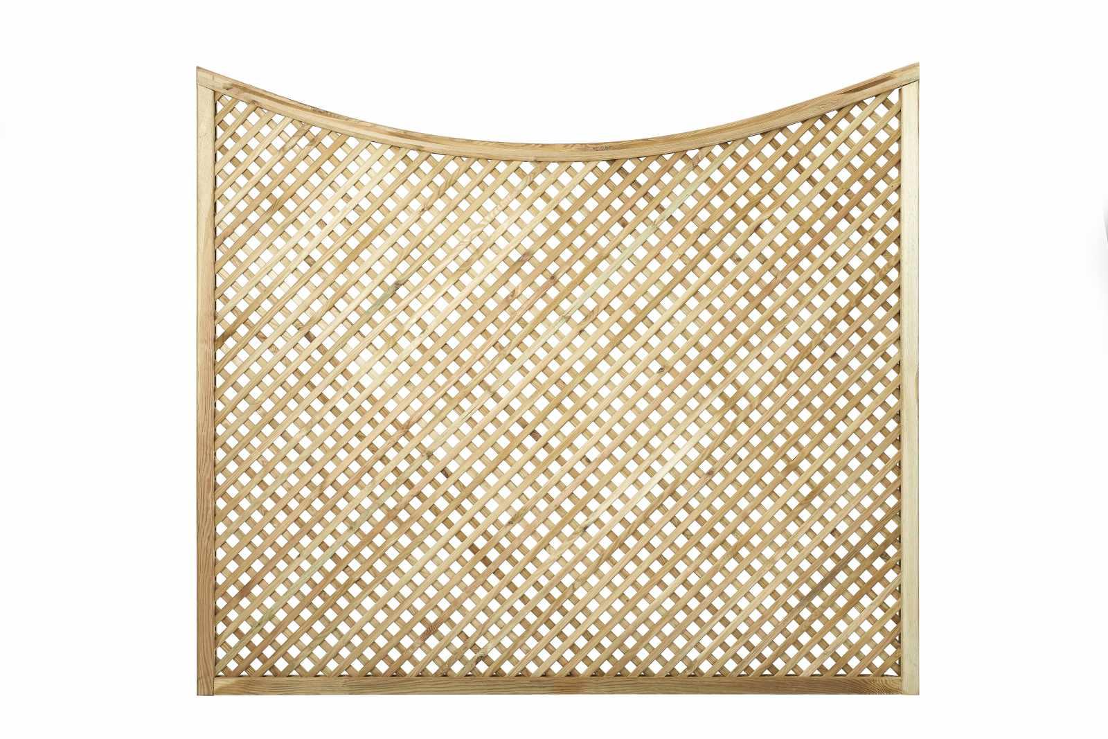 diagonal trellis concave arch top panel privacy panels. Black Bedroom Furniture Sets. Home Design Ideas