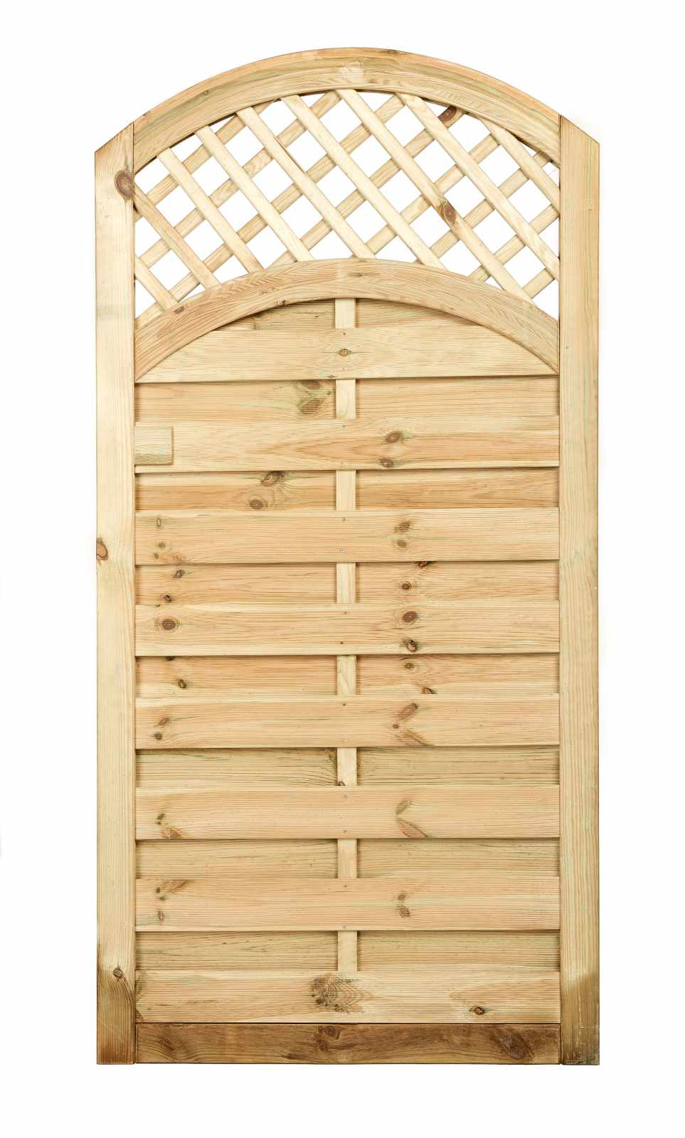 Curved Trellis Top Solid Gate Painted Options Available