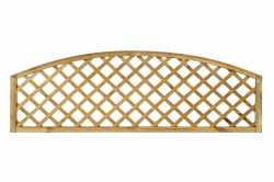 Open Diagonal Convex Trellis Topper Panel (70mm Gap)