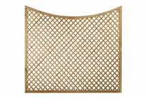 Diagonal Trellis Concave Arch Top Panel