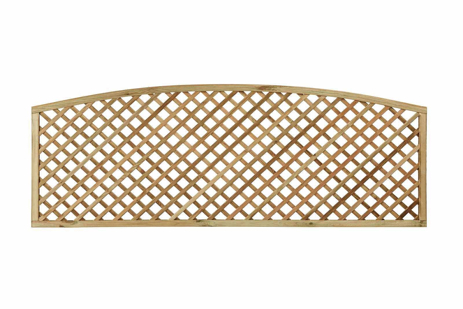 Diagonal Trellis Convex Arched Topper Panel