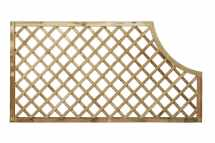 Open Diagonal Trellis Corner Arch Panel (70mm Gap)