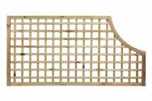 Open Square Trellis Corner Arch Panel (70mm Gap)