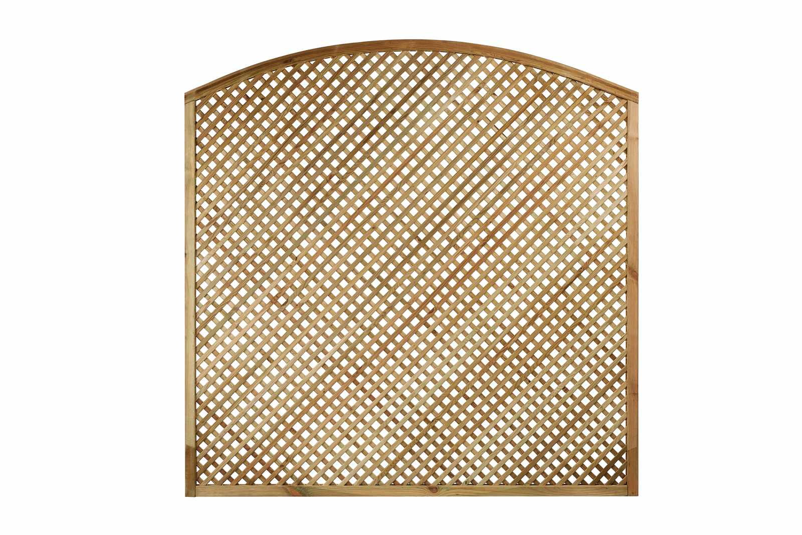 Diagonal Trellis Privacy Convex Arch Top Panel 20mm Gaps