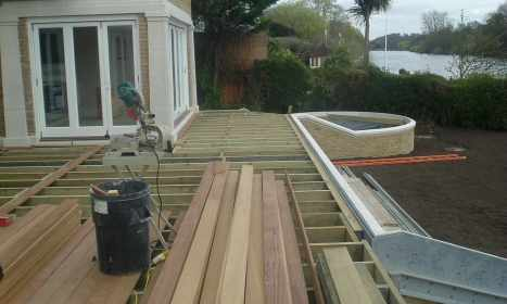 Decking Area - During