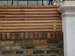 Bespoke Natural Iroko Slatted Fencing