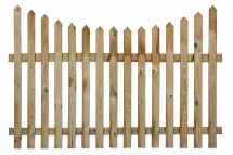 Concave Pointed Top Picket Fence