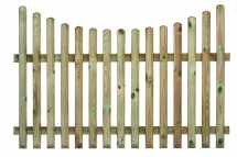 Concave Rounded Top Picket Fence