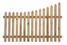 Curve Down Pointed Top Picket Fence