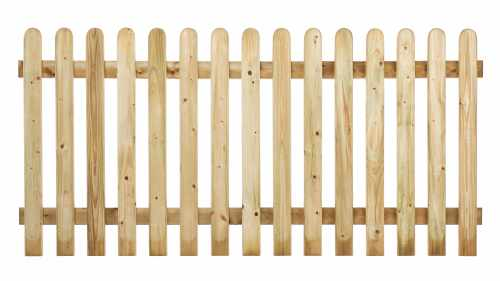 Rounded Top Picket Fencing