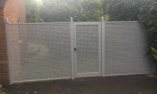Ready-Made Trellis Panels with matching Trellis Gate