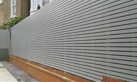 Painted slatted Fencing