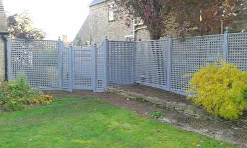 Bespoke painted trellis gate
