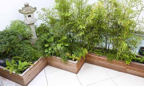 Bespoke Slatted Natural Planters
