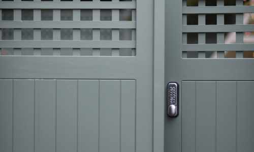 Pair of Solid TGV Gates with Keypad