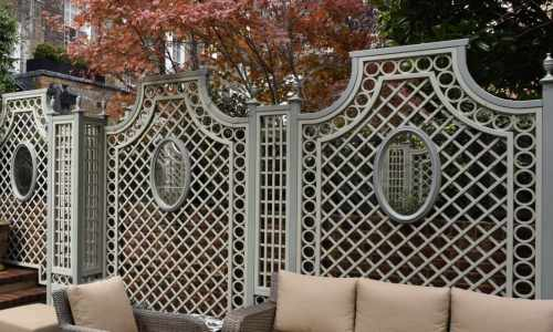 French Styled Beau Treillage Garden Design