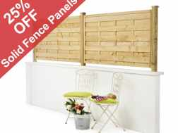 Get 25% off solid fence panels