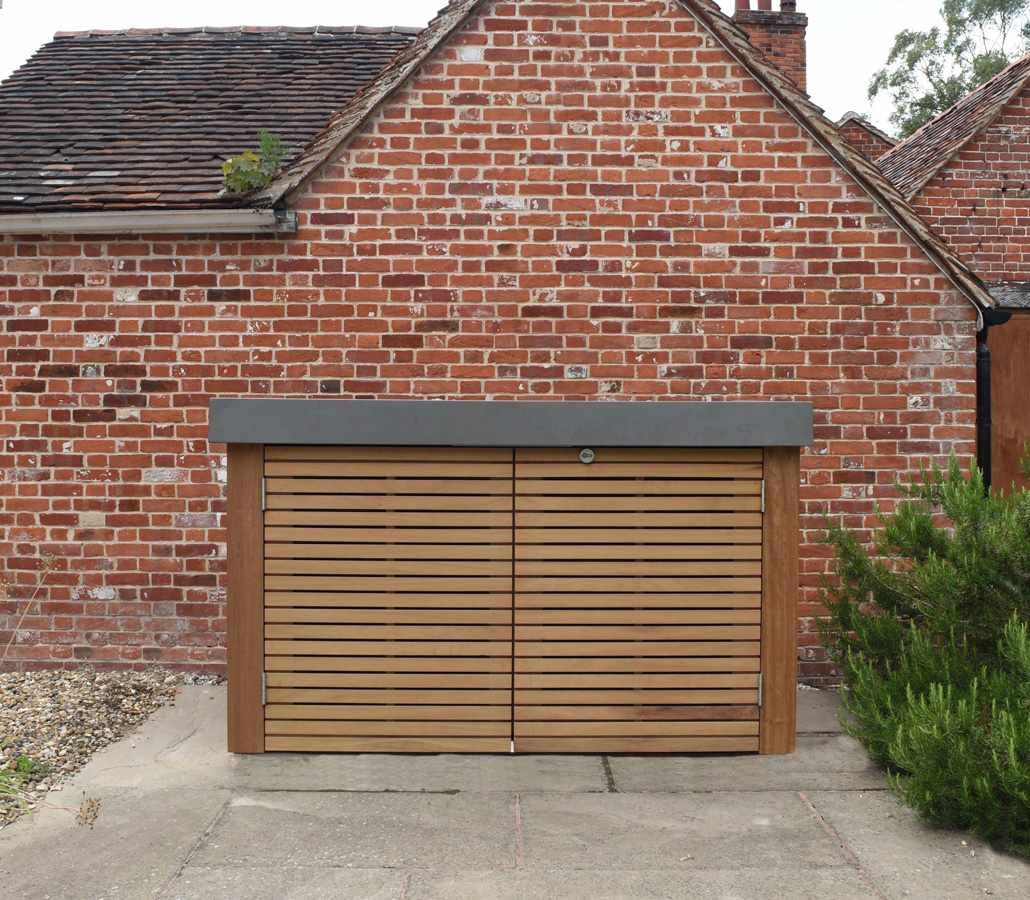 Contemporary bike shed