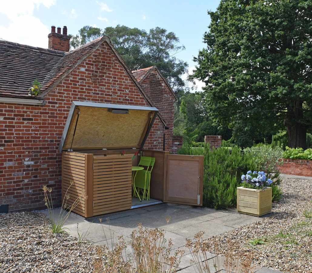 Contemporary Bike Shed Handmade By The Garden Trellis