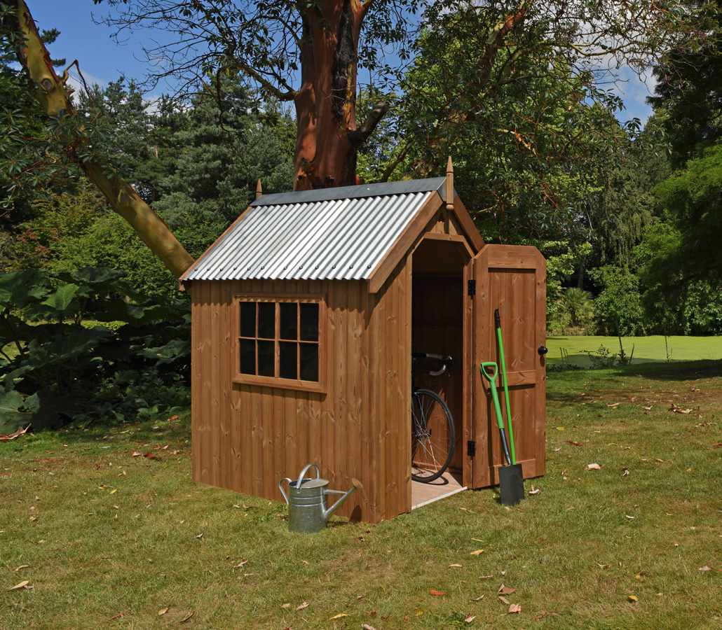 Traditional garden shed handmade by the garden trellis for Traditional garden buildings