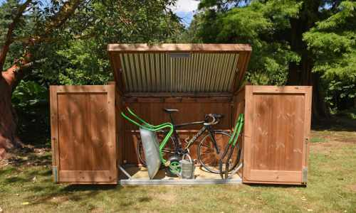 Traditional Bike Shed